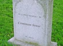 Headstone for Common Sense